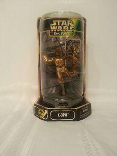 Star Wars Epic Force C-3PO Holding Leg Rotates 360 Degrees Kenner 1997 *RARE #Hasbro