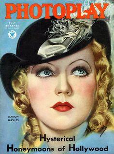 Marion Davies: Hysterical Honeymoons of Hollywood Artist: Earl Christy Star Magazine, Movie Magazine, Magazine Art, Magazine Covers, Mode Vintage, Vintage Ads, Vintage Images, Vintage Prints, Vintage Style