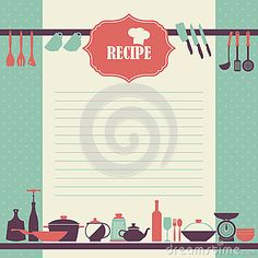Recipe page design. Vintage style cooking book page by Lublubachka, via Dreamstime