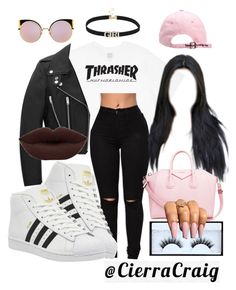 """I Don't Need You"" by cierracraig ❤ liked on Polyvore featuring HUF, adidas…"