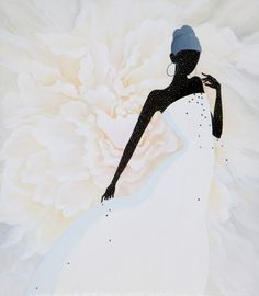 Scent of a Woman ‧ Diamond Heart 3 | Mou Lu Mou Lu #illustration #mixed_media