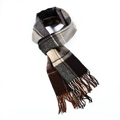Luxuriouse Soft Wool Touch Tassel Ends Scarf One Size Brown ** You can get more details by clicking on the image.