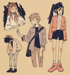 Art Inspiration Drawing, Sketchbook Inspiration, Character Design Inspiration, Art Inspo, Cartoon Art Styles, Pretty Art, Anime Art Girl, Aesthetic Art, Love Art