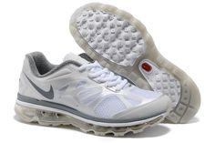 Fake Womens Nike Air Max 2012 White Dark Grey Shoes $46.88