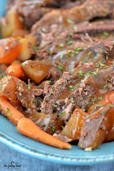 My go-to dinner recipe for fabulous Slow Cooker Pot Roast! Total comfort food that is so easy to make in a crock pot.