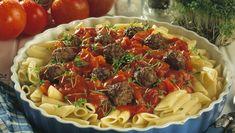 Pasta med frisk tomatsaus