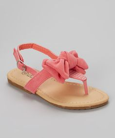 Another great find on #zulily! QQ Girl Pink Studded Bow Julia Sandal by QQ Girl #zulilyfinds