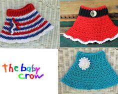 INSTANT DOWNLOAD - Versatile Crochet Baby Skirt Pattern - 3 Patterns in One