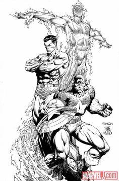 Steve Rogers: Super Soldier #1 (Sketch Variant Cover)//David Finch/F/ Comic Art Community GALLERY OF COMIC ART