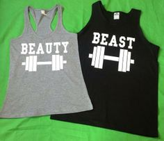 Couples gym and fitness shirts