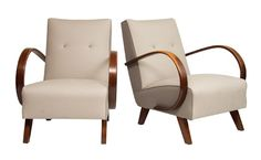 Pair of Bentwood Armchairs by Jindrich Halabala c.1940s