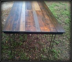 Custom Rustic Dining Table Made from Reclaimed by HappyHomeAustin, $395.00. Not fond of the legs, but like the top.