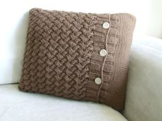 @Lorrie Ferguson this is just for you. :)   Hand knitted throw pillow