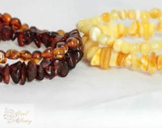 Stacking Baltic Amber Bracelet Set #hazelandhoney #thenortherncollective www.hyenacart.com/TheNorthernCollective