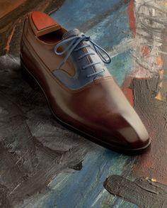 Souliers bi-colore Marc Guyot Parisian Gentleman - copie