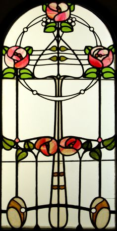 Stained Glass Window  by Róth Miksa (Hungarian, 1865-1944)  Art Nouveau