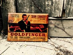 Excited to share the latest addition to my #etsy shop: James Bond Sean Connery Goldfinger Movie Poster Wooden Picture Home Decor Art