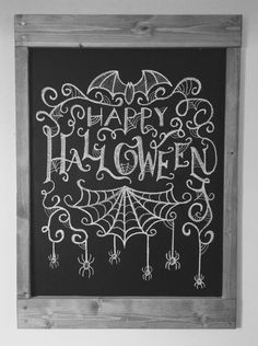 Halloween chalkboard art idea