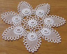 Lace Room Lounge 1 - Home Dekoration Crochet Motif Patterns, Crochet Borders, Crochet Designs, Crochet Doilies, Crochet Flowers, Crochet Lace, Crochet Patron, Irish Crochet, Crochet Fish