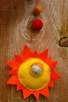 Twig and Toadstool: Summer Solstice Sun Child ...think I'd make this without the head popping out...super cute sun, though!