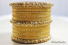 £4 Bangle Set www.NishaDavdra Perfect amount of Bling for holiday, bellydancers or to adorn a saree or a lehnga.