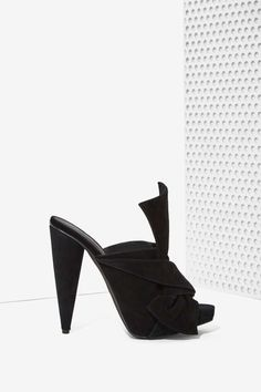 Jeffrey Campbell Anudado Suede Bow Heel - Shoes | Open Toe | Jeffrey Campbell