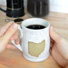 These ceramic pottery mugs are entirely handmade with sturdy stoneware, hand thrown on the potters wheel, and make perfect gifts for anyone in Ohio who loves coffee or tea! #columbus #cleveland #Cincinnati #Toledo #akron #dayton #youngstown Ceramics Pottery Mugs, Ceramic Mugs, Ceramic Pottery, Stoneware, Sister In Law Gifts, Christmas Gifts For Couples, Realtor Gifts, The Potter's Wheel, Coffee Lover Gifts