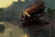 Broken Worlds – Les illustrations sombres et fascinantes de Sergey Kolesov (image)