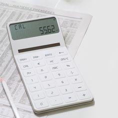 ELA DESKTOP - Calculatrice de bureau - Affichage double ligne - En ABS et gomme - Existe également en noir et vert