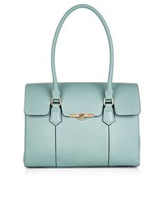 ANNA SCALLOP FLAP SHOULDER BAG - GREEN