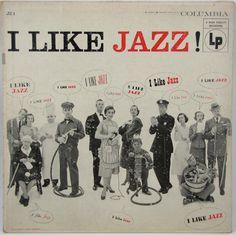 I LIKE JAZZ - Vintage Record Album Cover Wall Decor. via Etsy.