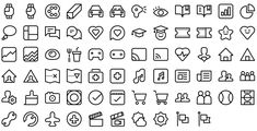 Native line icons pack - Round Icons Premium All Icon, Icon Set, Icon Tattoo, Icon Pack, Line Icon, Icon Design, Nativity, Doodles, Journal