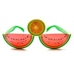 Watermelon Slice Fruit Shape Silly Fun Novelty Party Glasses