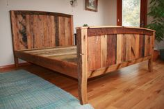 Cozy Country Bedframe from Wormy Chestnut and by BarnWoodFurniture