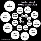this will help us when we pick out the beads.I like an to visual mm to inches chart Mom Jewelry, Jewelry Tools, Wire Jewelry, Jewelry Supplies, Jewelry Crafts, Beaded Jewelry, Handmade Jewelry, Jewellery Box, Jewellery Making