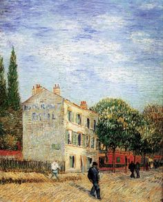 The Rispal Restaurant at Asnieres, 1887, Vincent van Gogh Medium: oil on canvas