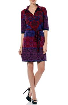 Laundry by Shelli Segal Print Collared Jersey Shirtdress available at #Nordstrom