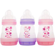MAM - Girls' 5-oz. Bottle Gift Set, 3-Pack, BPA Free  Walmart