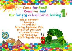 Very Hungry Caterpillar Eric Carle Birthday by Ashalinaballerina, $6.50