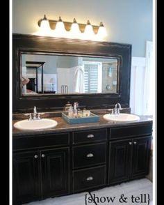 Crown molding around mirror