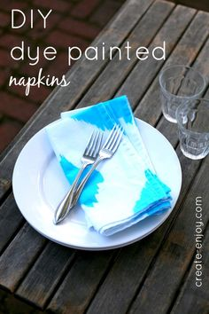 Create / Enjoy: Two-step painted dye napkins for summer