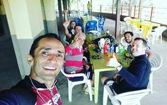 Com os amigos Luiz Carlos, Mantovani, Brandão, Ricardo, e Dick.