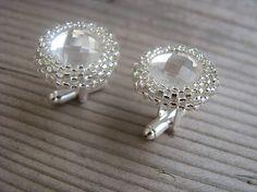 Ridgways / Manžetové gombíky - Crystal/Silver lined crystal