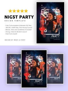 T 300, Party Flyer, Your Image, Photoshop, Layout, Templates, Typo, Fonts, Strong