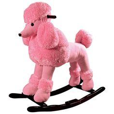 Baby Pink Rocking Poodle.