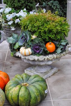 The Enchanted Home: Fall urns, new items for the shop and a hello!