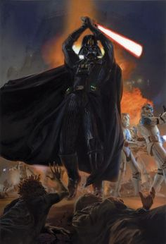Darth Vader and his 501st legion battle jedi on the planet Kashyyyk by Dave Seeley