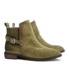 551e94706269 H m Suede Jodhpur Boots in Green (Khaki green) - Lyst