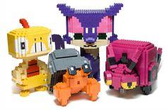 Pokemon hechos a base de Lego. Buenísimos.