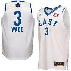 445966fe7 Men s NBA Eastern Conference Dwyane Wade adidas White 2016 All-Star Game  Swingman Jersey